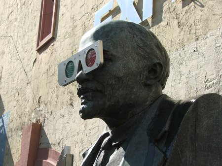 Lenin with cool glasses