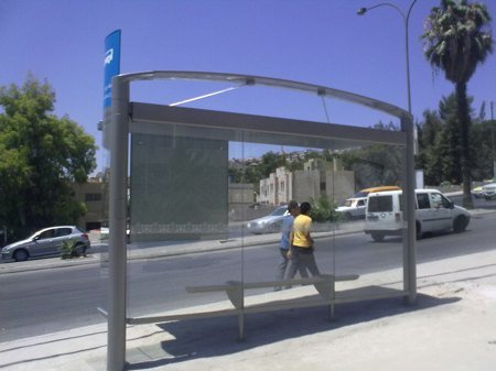 Amman's new bus shelter