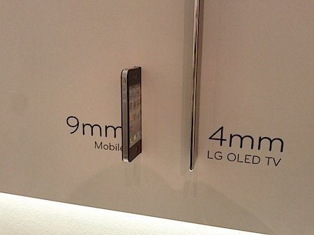 LG OLED TV is 4mm thin