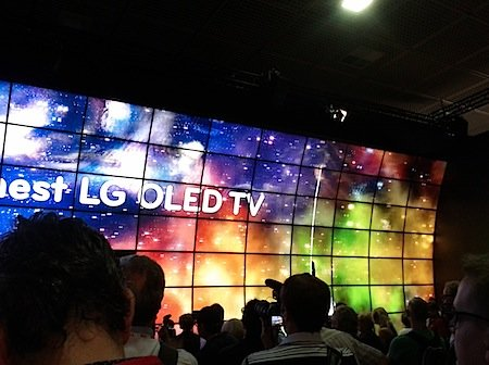 Massive LG video wall at IFA 2012