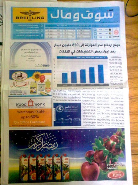 Al Ghad Business section