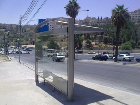 Amman's new bus shelter.