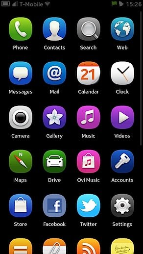 Nokia N9 home screen